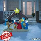 Christmas Decorations 6 ft Inflatable Light Up Nativity Scene Outdoor Xmas Decor