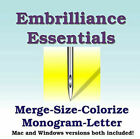 Embrilliance Essentials Machine Embroidery Software Lettering Editing+++ Windows