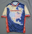 90s Vintage Voler Cycling Jersey Transamerica Made in USA Mens XL