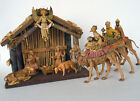 FONTANINI 1983 NATIVITY SET w Stable 3 Kings on Camels Mary Joseph Baby Jesus
