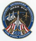 The Final Mission Nasa SCA Patch Space Shuttle Discover Enterprise Endeavour