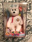 Ty BEANIE Baby COLOR ME Teddy Bear w/Red Ribbon/Box/6 working Markers-2002-MWMT
