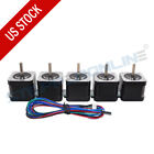 1-5pcs Nema 17 Stepper Motor 64oz.in 38mm 1.5a 17hs4401s 4-wire For 3d Printer