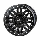 4/115 Tusk Nebo Beadlock Wheel Black - Fits: ARCTIC CAT 550 TRV H1 EFI 2009-2010