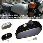 6L Motorcycle Modified Cafe Steel Fuel Gas Tank & Cap Switch For Honda BENLY50S