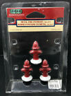 LEMAX CHRISTMAS VILLAGES METAL FIRE HYDRANT, SET OF 3 #34971 RETIRED 2003