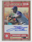 Francisco Lindor 2011 Playoff Contenders Rookie Ticket Autograph Indians RC Auto