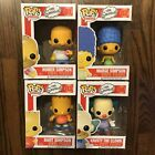 Funko Pop The Simpsons Homer #01, Marge #02, Bart #03, Krusty #04 Complete Set