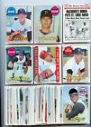 LOT OF (51) DIFFERENT 1969 TOPPS BASEBALL CARDS,
