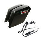 5 Streched Hard Saddlebags W Conversion Brackets For Harley Softail 86 13 11 12