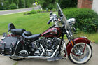 2001 Harley-Davidson Softail  2001 Harley Davidson Heritage Springer FLSTS Red and Black