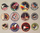 NASA PATCHES LOT of 12 Space Program  Shuttle STS Missions Spacelab Apollo ++++