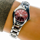 Fossil F2 Womans Watch ES9306 Red Dial All Stainless Steel 30mWorking