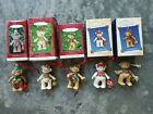 HALLMARK ORNAMENTS GIFT BEARERS SERIES Lot of 5 BEARS – 1999-2002