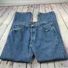 Levis Mens 501 XX Vintage Jeans Med Wash Straight Leg Red Tab Button Fly 36x30