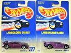 HOT WHEELS LAMBORGHINI DIABLO COLLECTOR 227 2EACH VARIATION SET IN PACKAGES