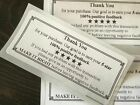 510 Thank You Shipping Labels Stickers Envelope Packages Purchase Seals Stars