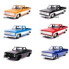 Jada 124 Just Trucks 1985 Chevrolet C 10 Pick Up Diecast Red Black Blue Orange