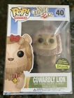 Funko Pop! WIZARD OF OZ Cowardly Lion Flocked Gemini Exclusive - RARE