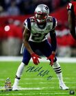 Malcolm Butler Signed New England Patriots Super Bowl 50 16x20 Photo Steiner