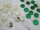 YOUR CHOICE St Patricks Day Ornaments Gold or Green Coins New