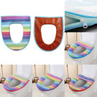 1 set Washable Toilet Seat Cover Soft  Faux Leather Bath Seat Rainbow Toilet Pad