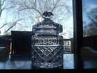 Biscuit Barrel Jar Candy Glass Lid Cut Lead Crystal Clear Industries Versailles