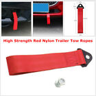 1PCS Racing Car Universal High Strength Red Nylon Trailer Tow Ropes Strap Tow
