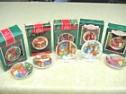 5 Hallmark Collector's Ornaments Plates 1987 1988 1989 1990 1992 ~ FREE SHIPPING