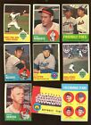 1963 Topps Baseball Card Lot Starter Set 127 Different G VG