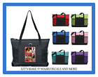 YOUR PICTURE PERSONALIZED ZIP TOTE PURSE SCHOOL GYM LUGGAGE CHURCH DIAPER BAG