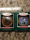 2 Hallmark Holiday Wildlife Ornaments 1985 & 1987 Partridge And Snow Goose