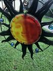 tained Glass Suncatcher a Sun With Metal Rays  Different Colored Glass balls Su