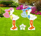 Twin Decoration Yard Stork Signs Kit Lawn Birth Announcement New Baby Art