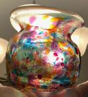Susan Gott Glass Vase Pheonix Studios 4 Multi Colored EUC