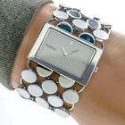 Fossil F2 Womans Watch ES1492 White Dial Stainless Steel Circle Mesh Working