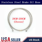 Motorcycle Brake Clutch Oil Hose Line Pipe Banjo Fitting Stainless Steel Braided