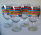 Set of 4 FIESTA ICED TEA BEVERAGE Glasses RETIRED Colors Flamingo