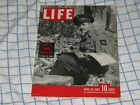 Life Magazine April 30th 1945, Mobil Oil, Texaco, Coca Cola ads