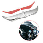 Chrome Bat Brow Fairing Accent For Harley Electra Glide Standard FLHT 1996-2006