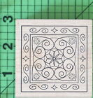 Heart Scrolls Flowers E255 rubber stamp by Outlines Rubber Stamp Co New