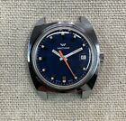 Waltham Vintage Dive Watch - Blue Dial Orange Seconds - Runs Great!