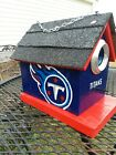 Handmade and handpainted NFL TENNESSEE TITANS Birdhouse