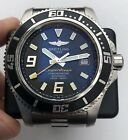 Authentic Breitling Superocean 44 A17391 Good Condition On Bracelet Black Orange