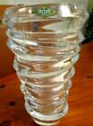 Shannon LEAD Crystal Vase Reflections Pattern Goldinger Heavy weight New