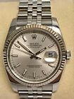 Rolex Datejust 116234 Steel & White Gold Jubilee 36mm Silver Index Dial Watch