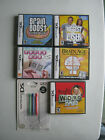 Lot of 5 DS Game Brain Age Word Brain Boost Crosswords Nintendo Biggest Loser