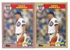2017 Topps On Demand Mini 25 GREG MADDUX 1987 Lot of 2 - Pink - Chicago Cubs