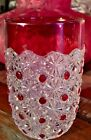 EAPG BRYCE BROS FASHION aka Daisy and Button Pattern Ruby Stained Tumbler