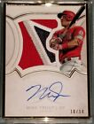 2018 Mike Trout Topps Definitive Metal Framed Patch Jersey Autograph Auto 10 10